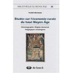 Etudes sur l'économie rurale du haut Moyen Age.jpg